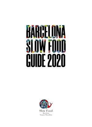 BARCELONA SLOW FOOD GUIDE 2020 | 9788409157198 | AA.VV.